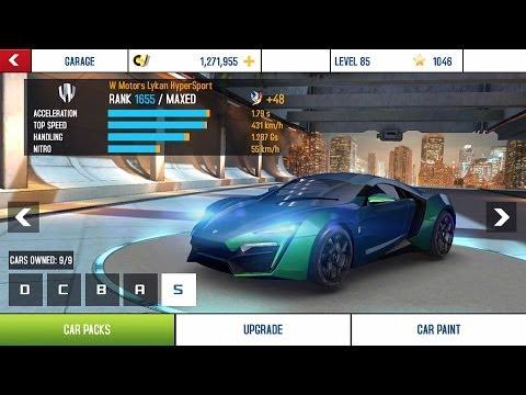 Asphalt 8 Cars List Full Upgrade Tuning Kit Upgrade