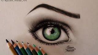 طريقة رسم العين بالرصاص 2015 .. يوميات واحد عراقي