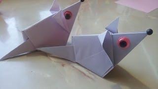 Оригами Мышка. Мышка из бумаги(Делаем мышку из бумаги. Поделки из бумаги для детей и взрослых., 2014-06-18T06:17:13.000Z)