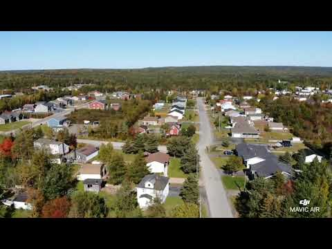 Fall day fly over of Glenwood NL