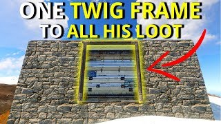 THERE WAS ONE TWIG FRAME TO ALL OF HIS LOOT MY BEST SOLO START FOR MONTHS - Rust Solo Survival