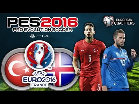 Türkiye vs İzlanda ★ UEFA EURO 2016 FRANCE ★ European Qualifiers - Group A | LIVE | PS4 | PES 2016