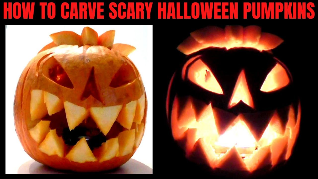 Halloween Pumpkin How to Carve Pumpkins scary - YouTube