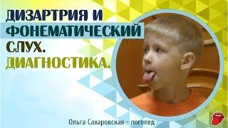 Дизартрия и фонематический слух. Диагностика речи и логопедическое обследование ребенка 5, 6 лет