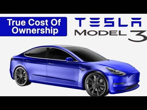 TESLA Model 3 TRUE Cost of Ownership Compared with a Honda Civic & BMW 3 Series