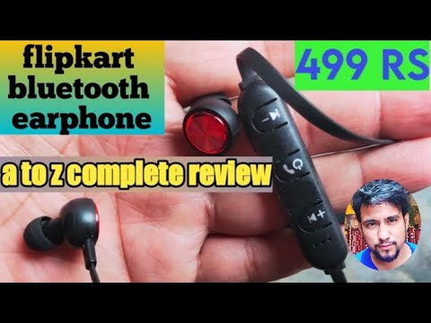 Flipkart Smartbuy Wireless Bluetooth Earphone With Mic Unboxing And Review Smartbuy Ieo64b Youtube