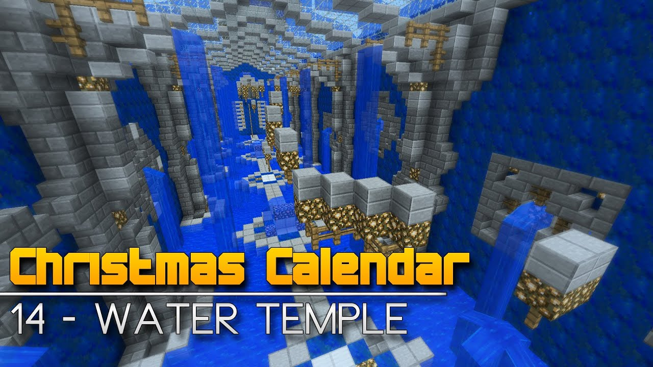 Christmas Calendar Parkour : Christmas calendar water temple minecraft parkour