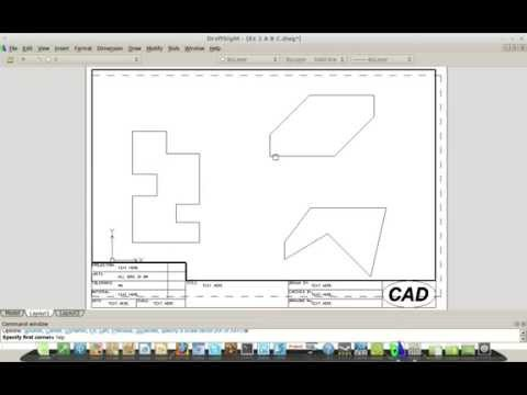 DraftSight (AutoCAD) – Scale – Dimensions – Viewports (also for Linux etc)