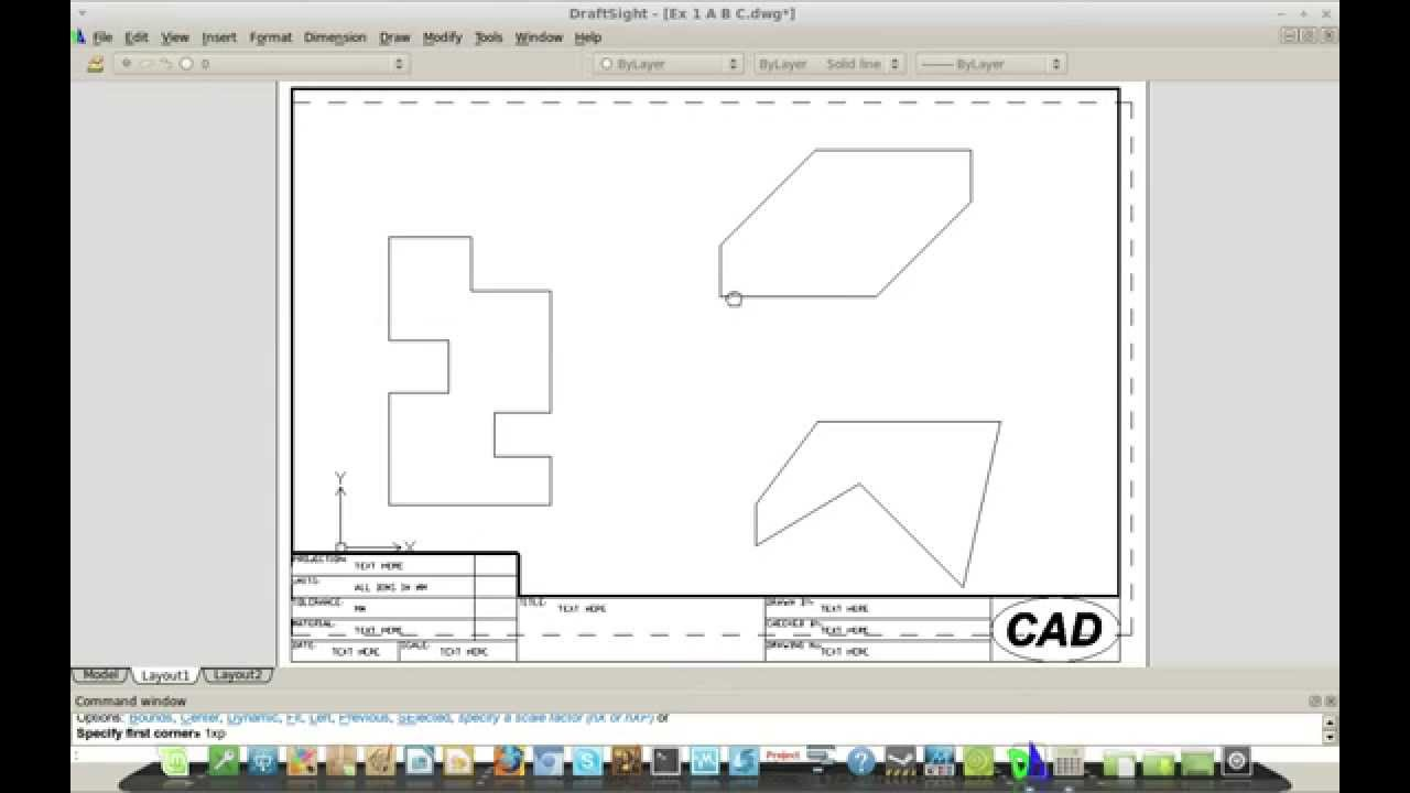 DraftSight (AutoCAD) - Scale - Dimensions - Viewports (also for Linux etc)