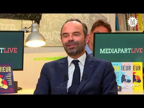 Le Premier ministre Edouard Philippe face à la rédaction de Mediapart