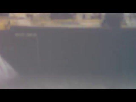 SHIP in hurricane Tornado Atlantic Ocean RARE VIDEO!