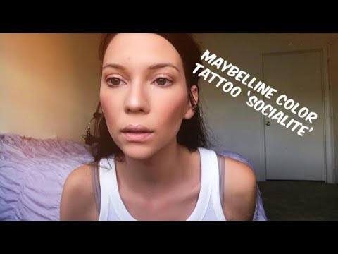 MAYBELLINE COLOR TATTOO IN 'SOCIALITE' Grwm