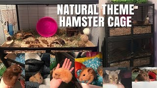Double, NATURAL THEME Hamster Cages! | Vlogmas (kinda) Day 2