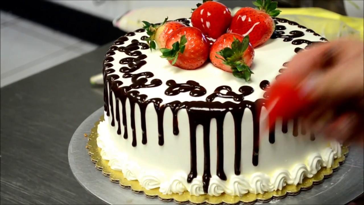 Украшение тортов | Как просто украсить торт на день ...