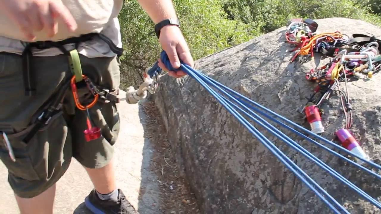 How To Set Up A Three Point Anchor System For Climbing And