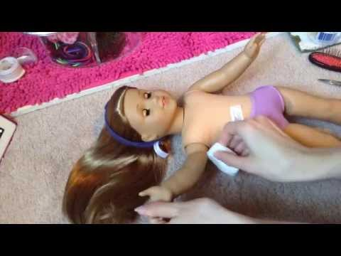 How to clean your american girl doll!