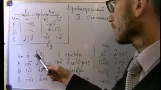 Урок древнегреческого.  3 склонение на -r-,  -l-