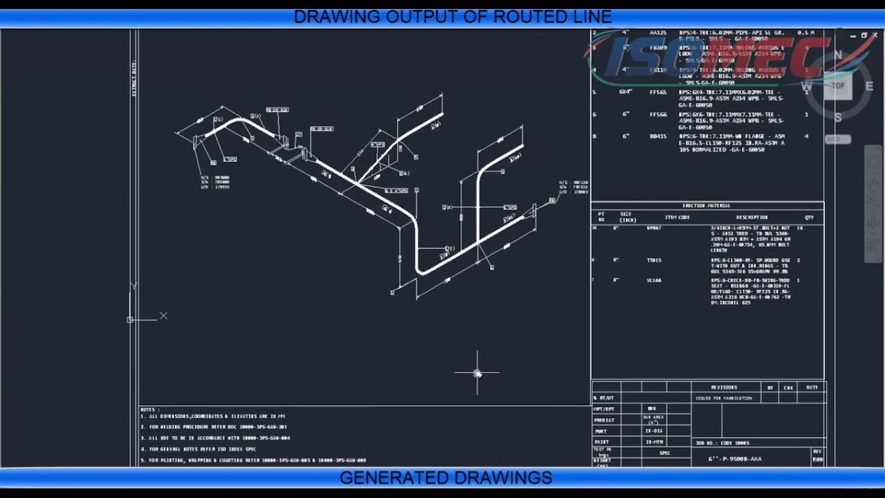 Draw Piping Isometric Drawings by ISOMAC Software  YouTube