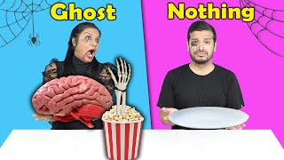 Haunted Challenge | Ghost Vs Nothing Challenge | Hungry Birds