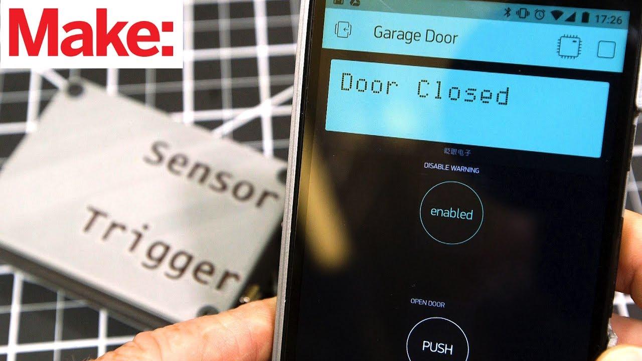 updated project smartphone garage door opener