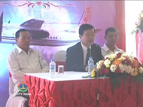 Lao NEWS on LNTV: National charter Lao Skyway,  announces the opening new routes.11/3/2014.