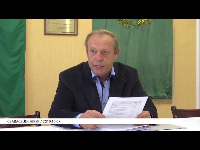 Csabacsűdi Hírek (2019.10.07)