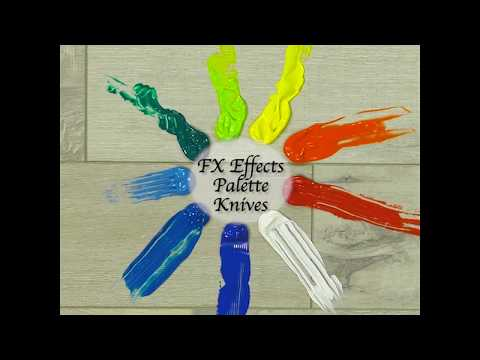 FX Special Effects Palette Knives - Create Textured Effects With These Unique Palette Knives