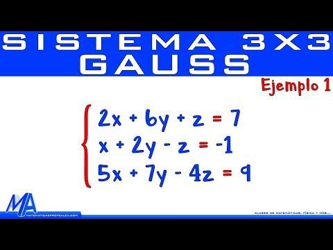 Solución De Un Sistema De 3x3 Método De Gauss | Ejemplo 1