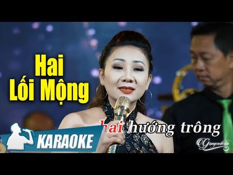 Hai Lối Mộng Karaoke Thúy Hà (Tone Nữ) | Nhạc Vàng Bolero Karaoke