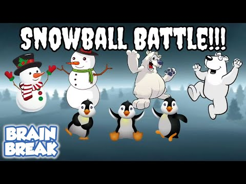 Snowball Battle - Winter PE Game