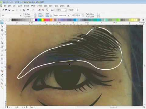 Drawing Lines In Coreldraw : How to drawing eyedbrows vector line art coreldraw youtube