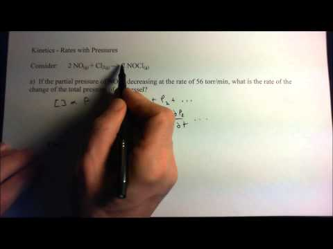 kinetics with pressure - calculate the total rate of pressure change in a sealed system.