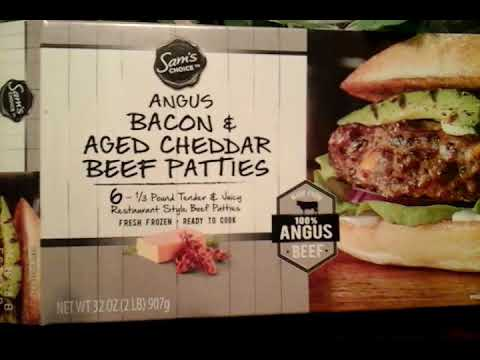 Sam's Choice Angus Bacon & Aged Cheddar Beef Patties Taste Review