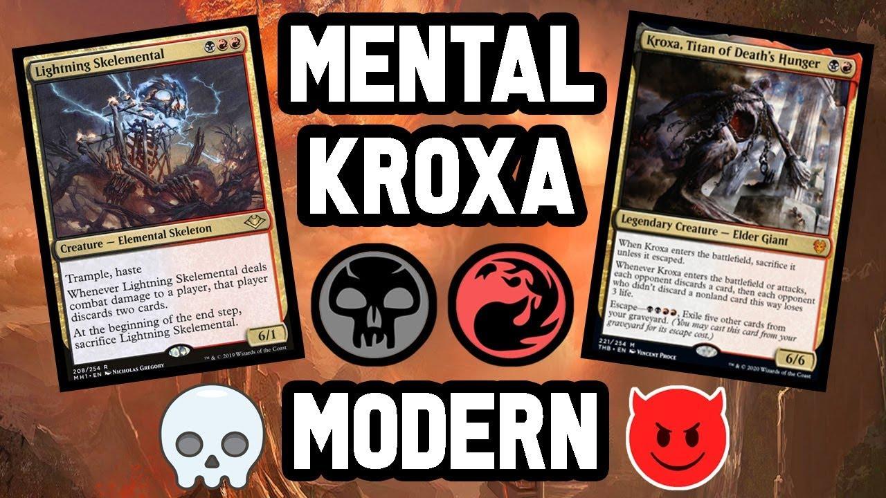 Modern Rakdos Kroxa Skelemental Unearth Youtube