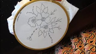 embroidery simple drawing designs sketch easy draw hand sketches drawings