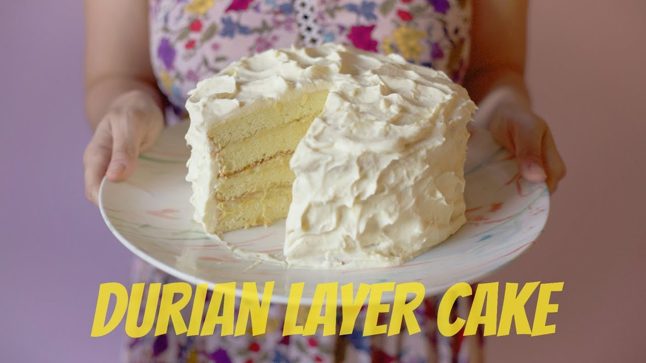 How To Make A Durian Layer Cake Youtube