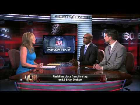 Redskins Place Franchise Tag On Orakpo - SportsCenter (03-03-2014)