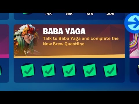 Talk to Baba Yaga and complete the New Brew Questline - Use any of the services of Mending Machine |