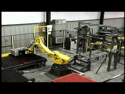 Robotic Manufacturing with Fanuc and Gantry Palletizers by Sage Automation