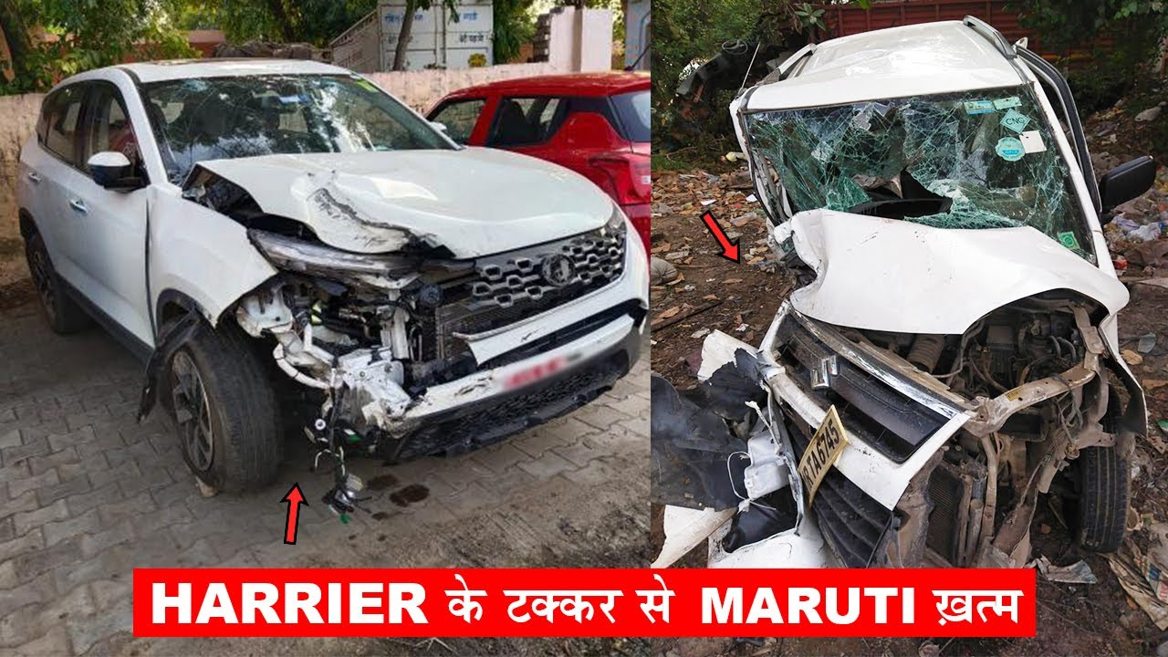 सुधर जाओ 🙏.  ACCIDENT OF NEW TATA HARRIER BS6 & MS WAGONR 🔥  SEE RESULTS