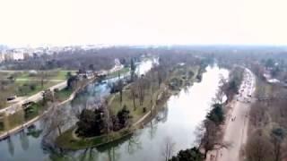 Bebop2 : lac inférieur (balade autour), Bois de Boulogne, France, Paris