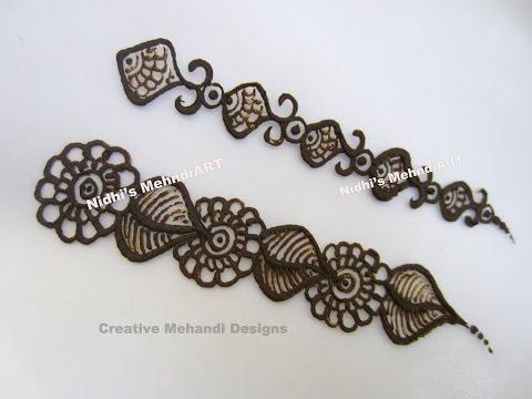 Henna Mehndi Strip Border Practice Design Tutorial for Beginners