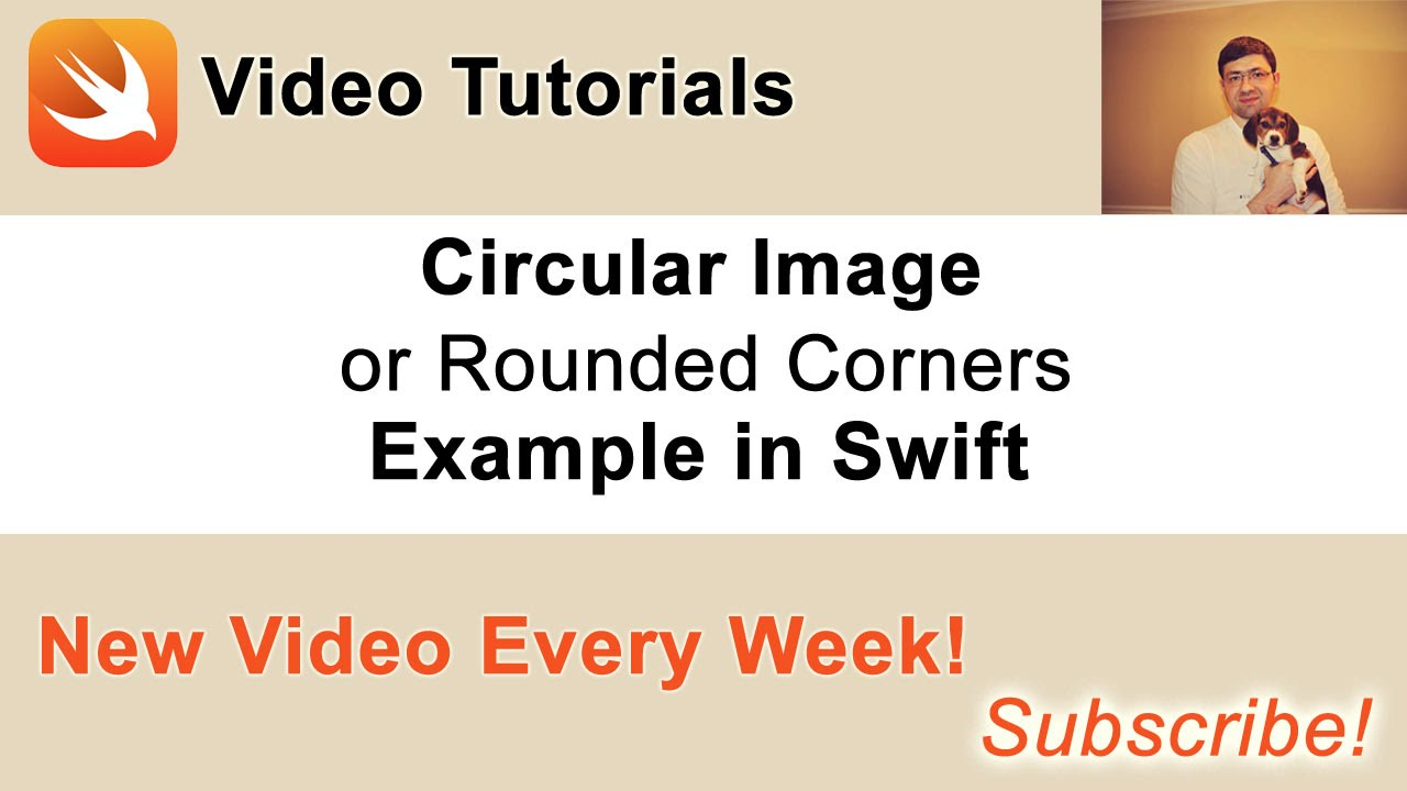 Circular Image or Image with Rounded Corners  Example in Swift