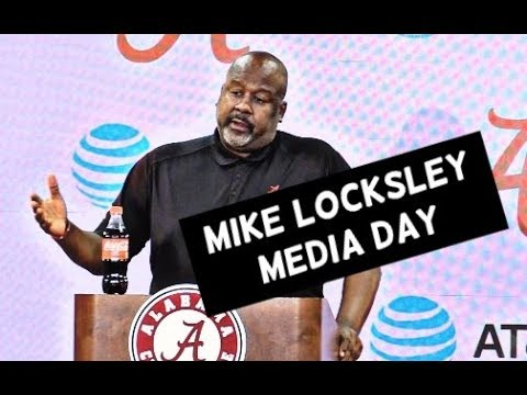Alabama offensive coordinator Mike Locksley at Media Day