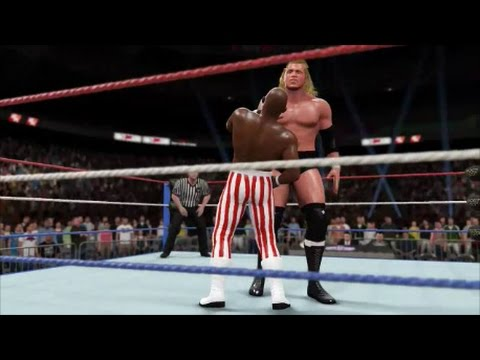 Sid Justice vs Virgil - WWF Superstars March 1992 (WWE 2K16 Universe)