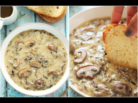 Wild Rice Mushroom Soup | Mushroom And Wild Rice Soup | Vegan Wild Rice Soup Recipe