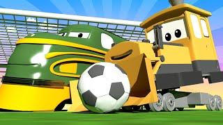 列車のトロイと 🚄  FIFA特別編 - トレインタウンユナイテッド  🚄 カーシティーにいる l 子供向けトラックアニメ Train Cartoons for Children thumbnail