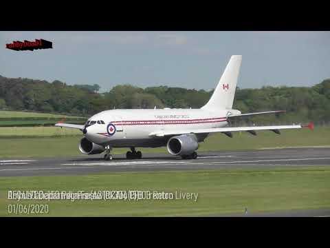 Retro Livery Royal Canadian Air Force (A310) CC150 Polaris[15003] Gas & Go Prestwick 01/06/2020