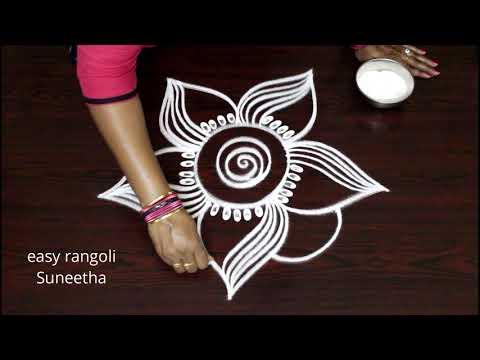 Simple cute  muggulu designs || easy rangoli by Suneetha || new kolams