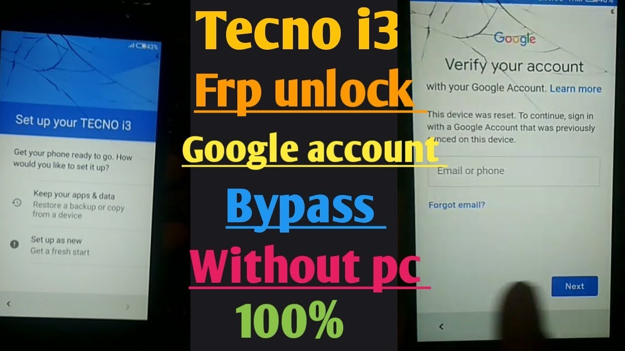 tecno i3 frp unlock /tecno i3googel account bypass solution without pc